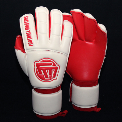 Rękawice Football Masters Full Red Contact Grip Protection RF