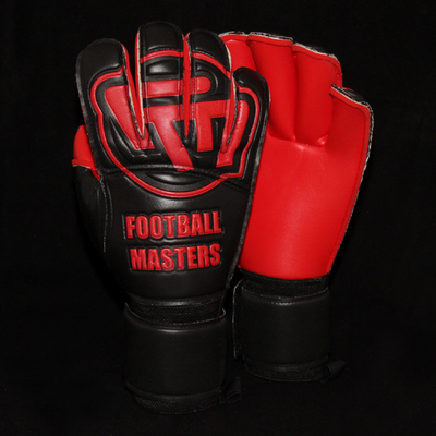 Rękawice Football Masters Black Red Contact Grip RF