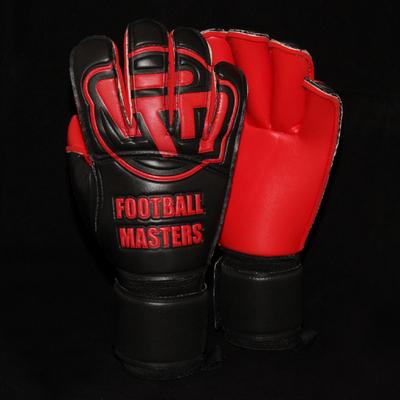 Rękawice Football Masters Black Red Contact Grip RF
