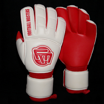 Rękawice Football Masters Full Red Contact Grip RF