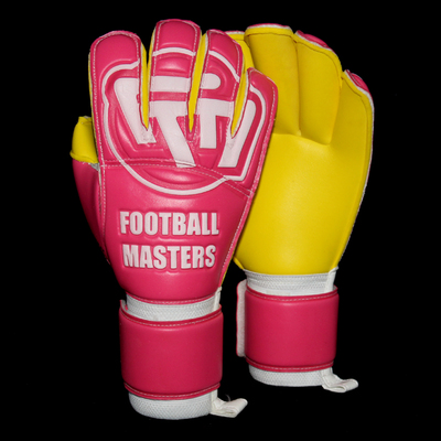 Rękawice Football Masters Yellow Pink Aqua Grip RF