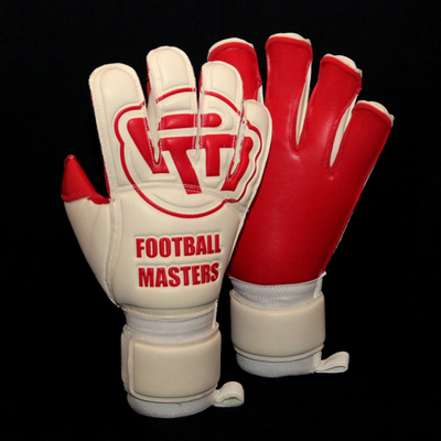 Rękawice Football Masters White Red Contact Grip Mixcut FR Junior