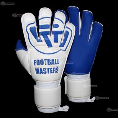 Rękawice Football Masters White Blue Contact Grip Mixcut FR Junior