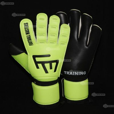 Rękawice Football Masters Training Fluo Black Aqua Mixcut FR Junior